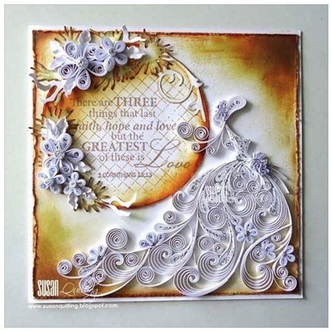 wedding anniversary quilling cards quilled wedding anniversary card by susan quilling fb