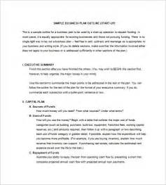 business plan outline template free business plan outline template 15 free sle exle