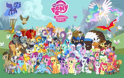 my little pony mlp fim characters images my little pony hd wallpaper and