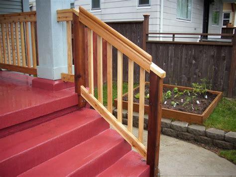 Cedar Handrail cedar rail deck masters llc portland or
