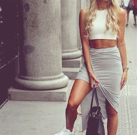 skirt grey skirt grey skirt high low skirt tight