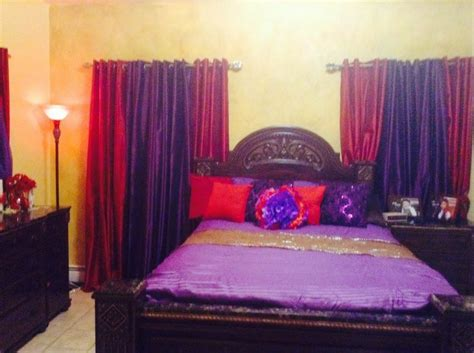 Purple And Red Bedroom For The Home Pinterest