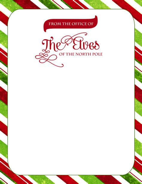 printable elf paper elf clipart letterhead pencil and in color elf clipart