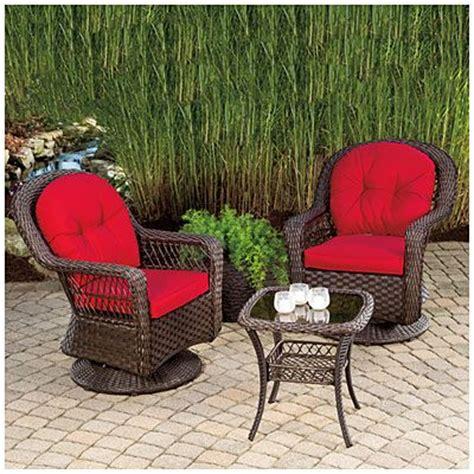 Wilson Fisher 174 Charleston Resin Wicker 3 Piece Swivel Wilson And Fisher Wicker Patio Furniture