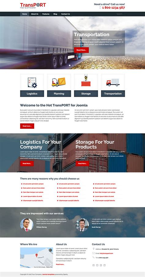 Transport Template Hotthemes How To Create Joomla Template
