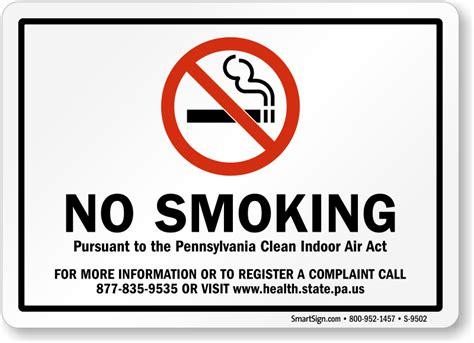 no smoking signs health act 2006 pennsylvania no smoking signs sku s 9502