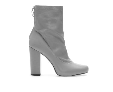 high heel grey boots zara leather stretch high heel ankle boot with inner