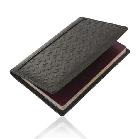 leather passport wallet pattern travel passport leather wallet holder case brown metal