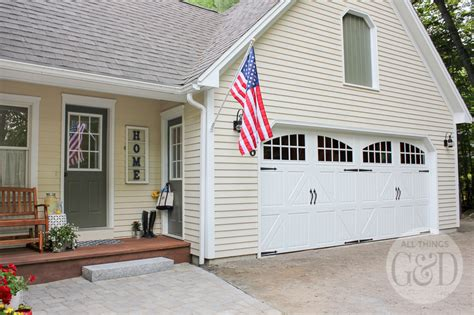 Carriage Style Garage Doors Lowes Lowe S Front Yard Makeover Portland Maine