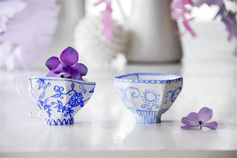 How To Make Paper Tea Cups - paper mache tea cups all