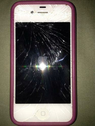 iphone at t cracked iphone 4 white at t ebay