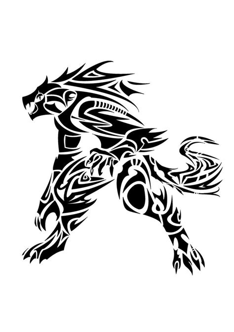 werewolf tribal tattoo tribal by ragedroid on deviantart