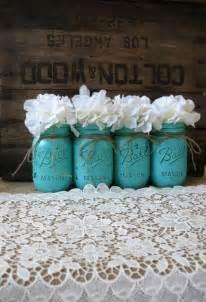 Jars painted mason jars rustic wedding centerpieces party decorations