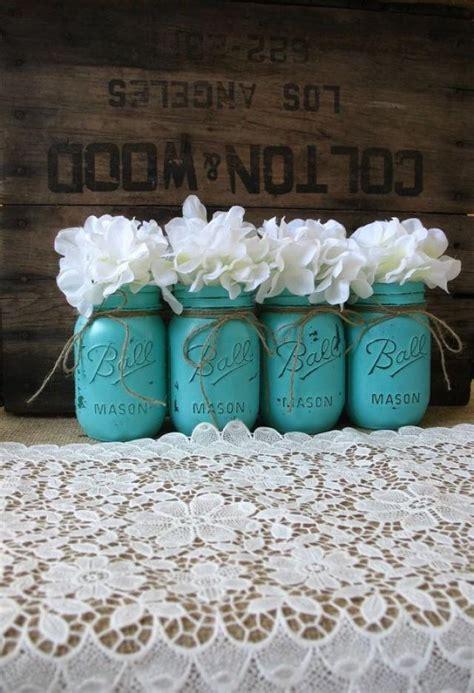 jars painted jars rustic wedding