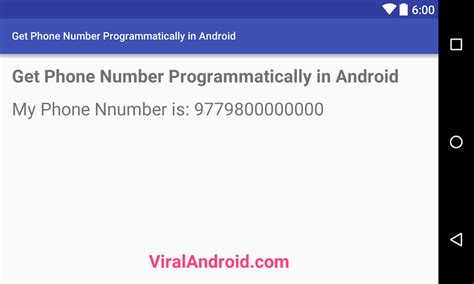 android phone number how to get the phone number programmatically in android viral android tutorials exles