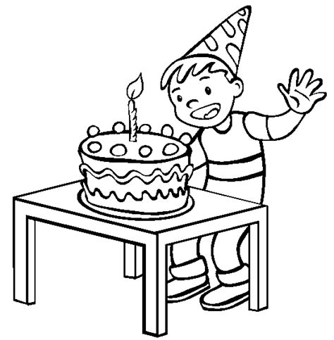 Animations A 2 Z Coloring Pages Of Birthday Cakes Birthday Boy Coloring Pages