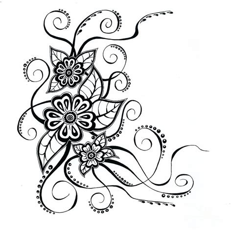 flower pattern to draw simple flower patterns drawing at getdrawings com free