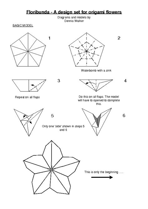 Origami Flowers Pdf - origami flower diagrams pdf wiring diagram schemes