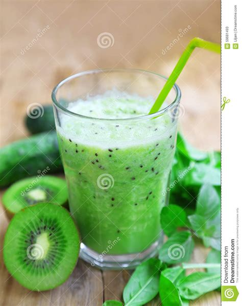 Spinach Cucumber Detox Smoothie by Healthy Detox Smoothie With Spinach Kiwi And Cucumbers