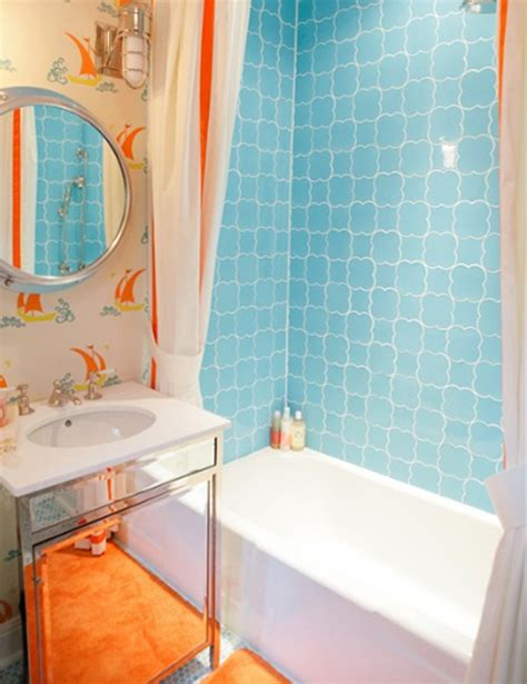 Colorful Bathroom Ideas by Orange Bathroom Decorating Ideas