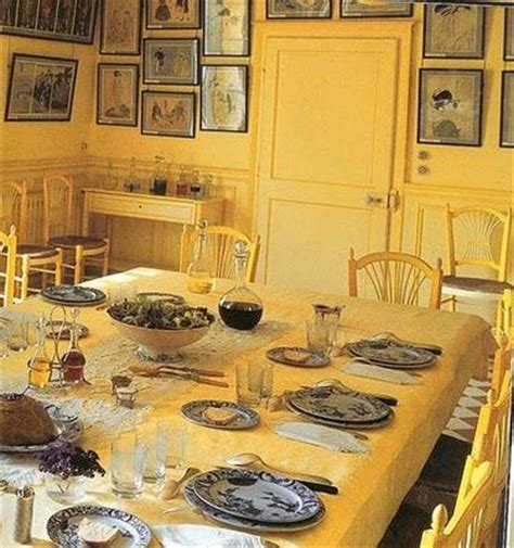 giverny painted furnature monet s yellow dining room