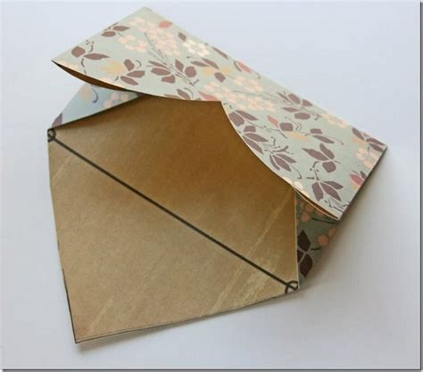 How To Fold Shape With Paper - how to fold a diy envelope from shaped paper