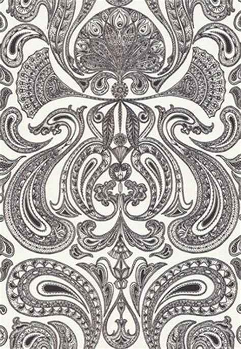 black and white paisley wallpaper groovy paisley wallpaper in black white