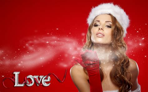 christmas girl  red backgro greeting card  christmas  year desktop hd wallpapers
