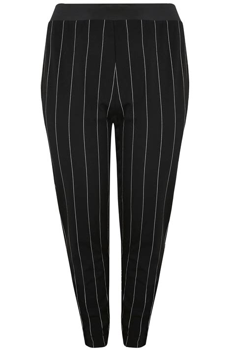 Nella 3 Rami Woven All Size Fit L Celana Panjang Wanita Muslim yours black white striped harem trousers plus