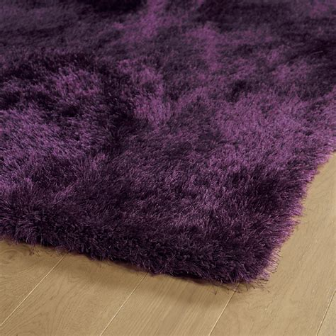 District17 Purple Posh Shag Rug Shag Rugs Solid Rugs Purple Rug