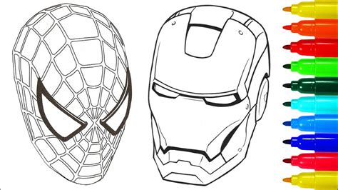 ironman and spiderman coloring pages spiderman iron man coloring pages colouring pages for