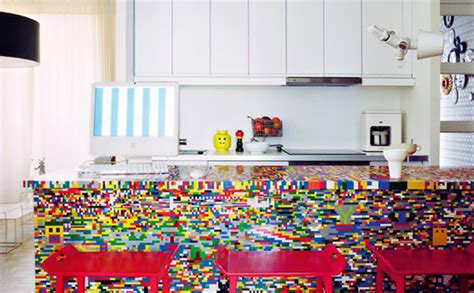 kitchen island made out of lego bricks gearfuse