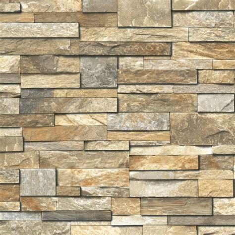 dekor steinwand grandeco design vliestapete steinwand braun bei