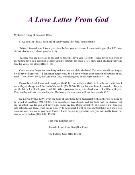 Confirmation Letter To God Rcia Reflection Retreat