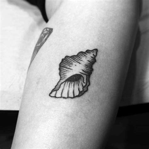 small seashell tattoo 80 seashell designs for oceanic ink ideas