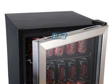 103 Can Glass Door Refrigerator Beverage Cooler Compact Soda Refrigerator Glass Door