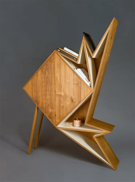 Origami Furniture - wooden origami furniture collection fubiz media