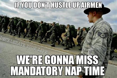 Airforce Memes - air force basic training nap time funny military memes