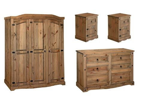 mexican bedroom furniture premium quality corona waxed solid mexican pine bedroom