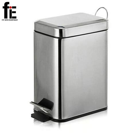 3 5l mini stainless steel garbage press dustbin small