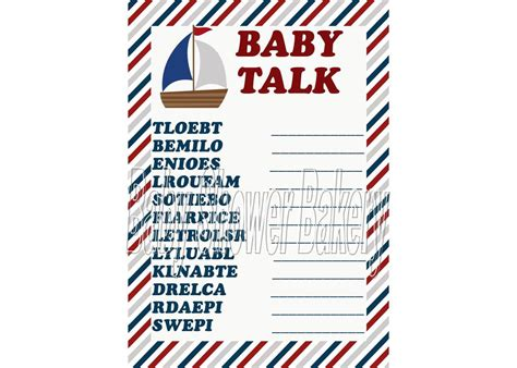 Nautical Baby Shower Printables Free by 5 Best Images Of Free Printable Nautical Baby Shower