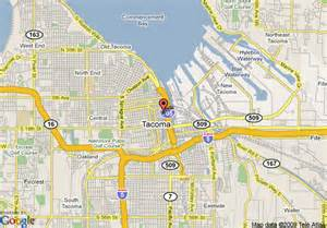 Map Of Tacoma Washington by Map Of Courtyard By Marriott Tacoma Downtown Tacoma