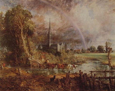 by john constable salisbury cathedral salisbury cathedral from the meadows romantic