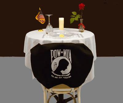pow table pow american legion flag emblem