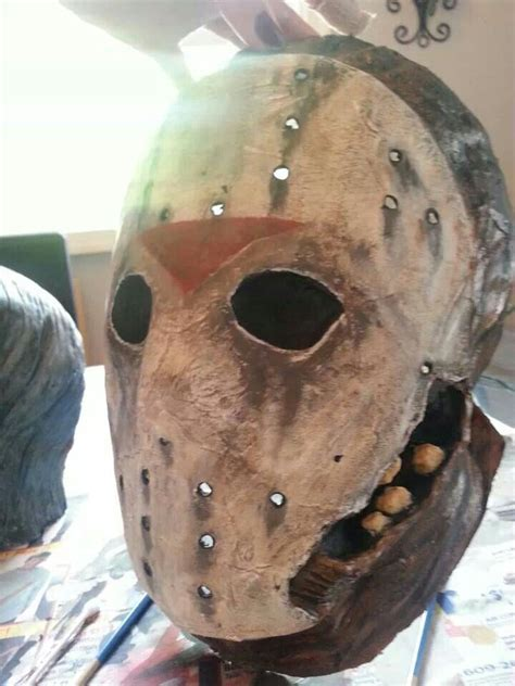 Paper Mache Mask - not to bad for my time and paper mache mask