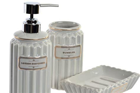 accessori bagno shabby set 3 accessori bagno lotion b shabby chic accessori bagno