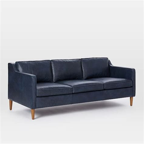 Hamilton Leather Sofa 81 Quot West Elm Hamilton Leather Sofa