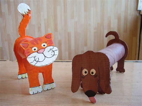 toilet paper roll crafts animals kindergarten toilet animals 171 funnycrafts