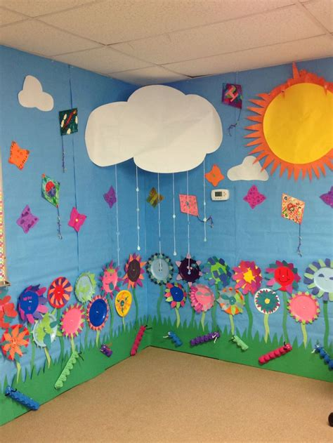 classroom craft ideas wall paper plate flowers foam butterfly s kites
