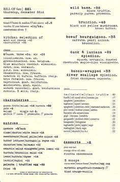 Tasting Kitchen Menu by 1000 Images About Letter To Los Angeles On